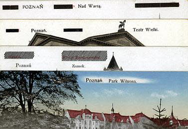 Four_cards_from_Poznan_with_overprints
